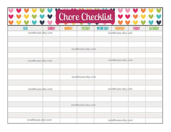 Household Chore Checklist   Do Your Chores Pad   KNOCK KNOCK ...