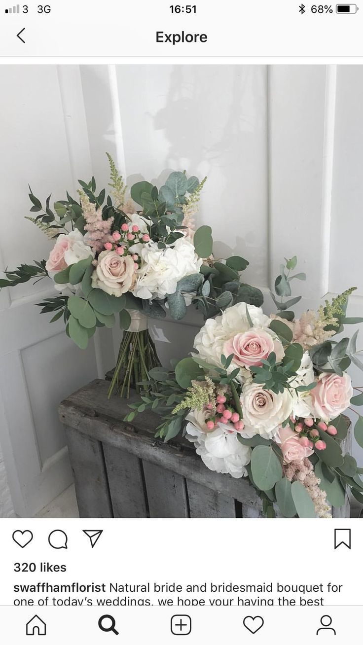 Hübsche Blumen, schöne Farben, Form, Eukalyptus - #bridesmaidbouquets