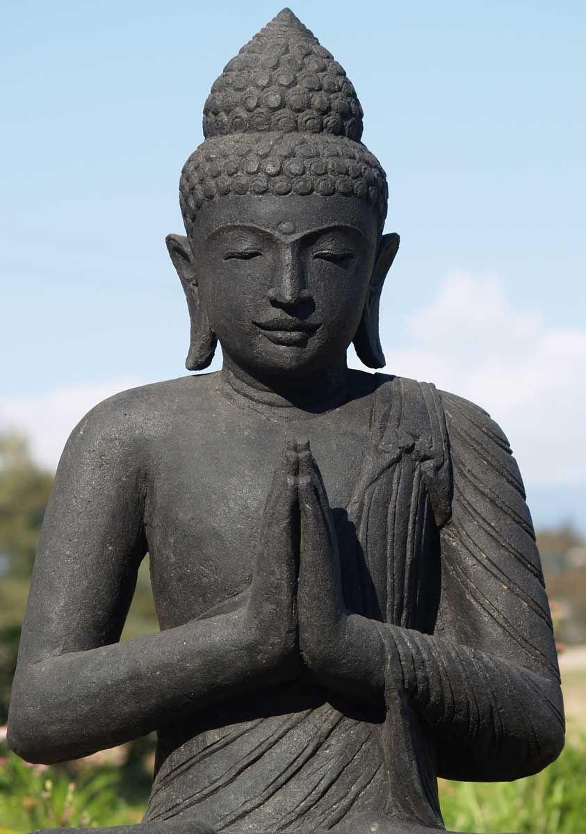 Sold Stone Namaste Buddha Statue 40 Pinterest Namaste Buddha