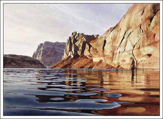 """Iceberg Canyon Morning"" Digital Print by Watercolor Artist David Drummond"