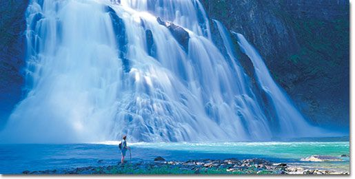 Kinuseo Falls Monkman Provincial Park, Northern British Columbia, Canada