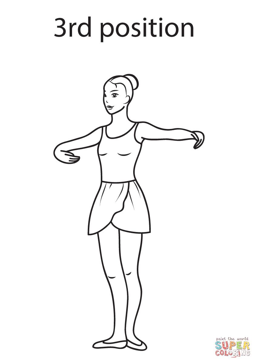 Ballet 3rd Position   Super Coloring   μπαλέτο   Pinterest