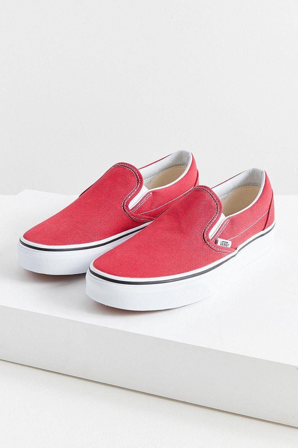3f01e36a88 Urban Outfitters Vans Classic Canvas Slip-On Sneaker - Crimson W 8 M 6.5