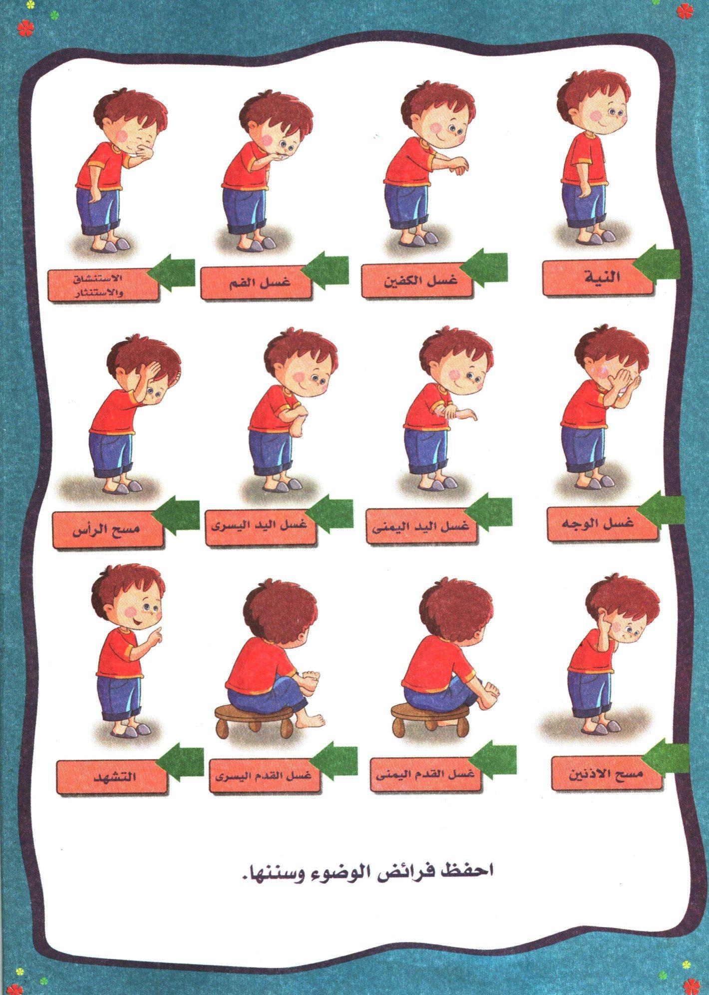 درس نموذجي لتعليم الاطفال الوضوء لمرحله الطفوله المبكره Muslim Kids Activities Islamic Books For Kids Islamic Kids Activities