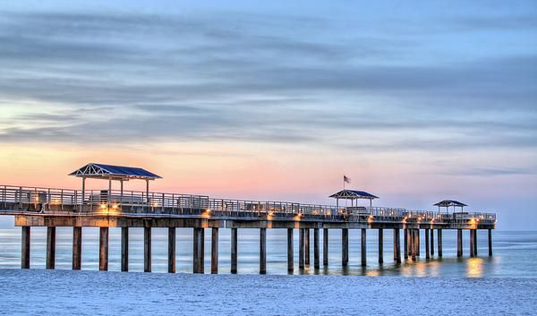Of Mexico Beaches Coast Coastal Dawn Night At Barnacles Texture Fishing Pier Piers Dock Docks Orange Beach Alabama