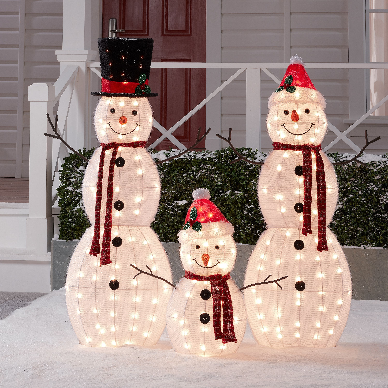 Christmas decorations light up snowman