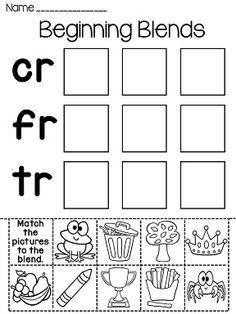 Blends Fun Worksheets (Initial Consonant Blends)   Worksheets, Fun ...
