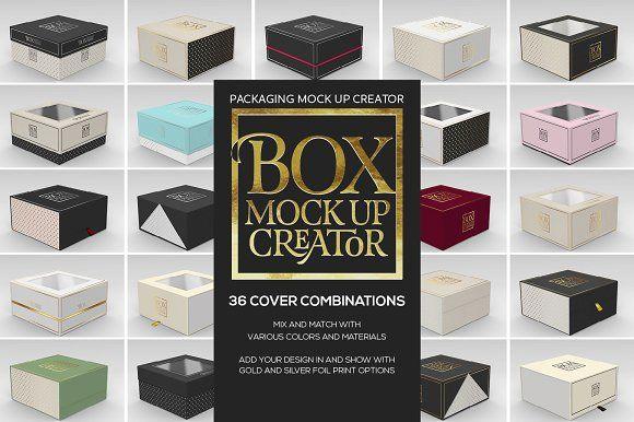 Download Free Box Packaging Mockup Generator PSD - Free PSD Mockups ...