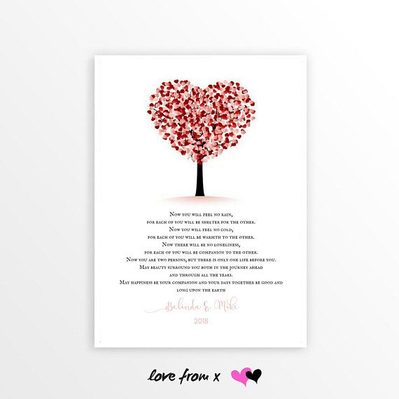 Marriage Blessing Anniversary Gift, Apache Poem, Now You