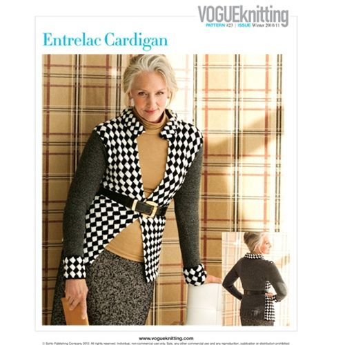 ENTRELAC CARDIGAN   Vogue Knitting   Pinterest