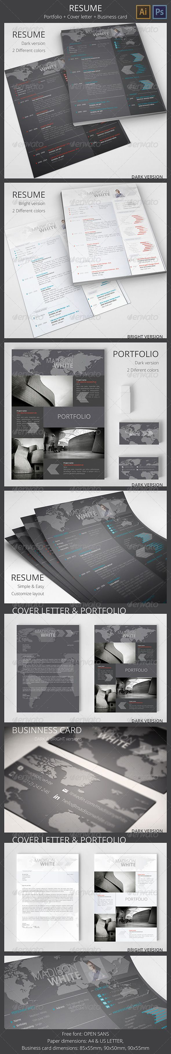 resume cover letter portfolio business card resume cover