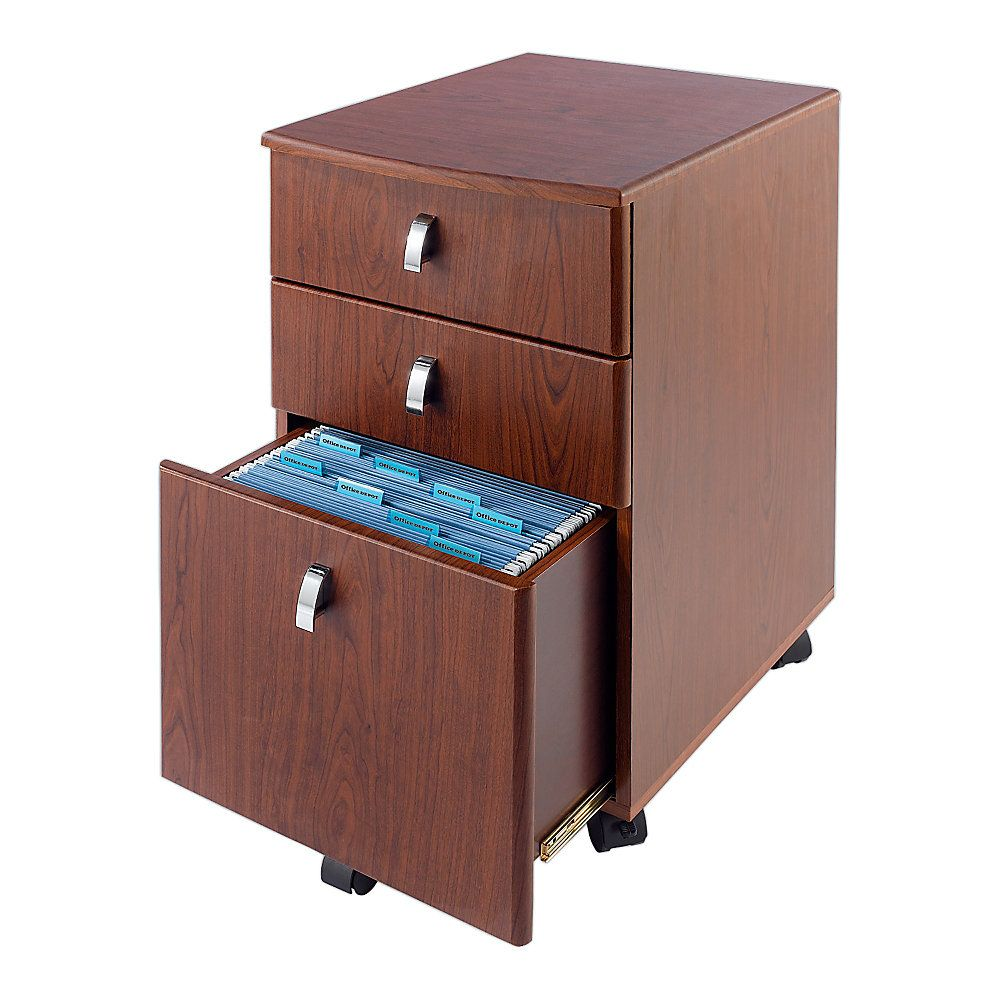 office depot wood file cabinet. Realspace Mezza Mobile File 28 12 H X 15 W 19 D CherryChrome By Office Depot \u0026 OfficeMax Wood Cabinet I
