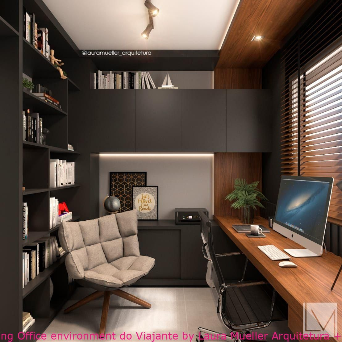 Home Office Dwelling Office Environment Do Viajante By Laura Mueller Arquitetura Office Interior Design Modern Modern Office Interiors Home Office Design