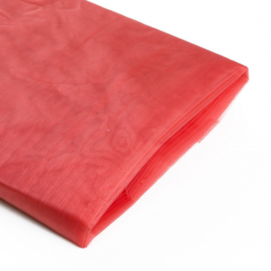 Coral Sheer Organza Fabric Bolt [403759] : Wholesale Wedding Supplies, Discount Wedding Favors, Party Favors, and Bulk Event Supplies