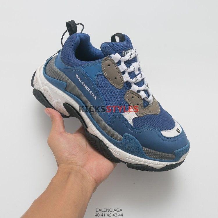 buy online b88a0 bc692 Balenciaga Triple S Retro Midnight Navy Blue