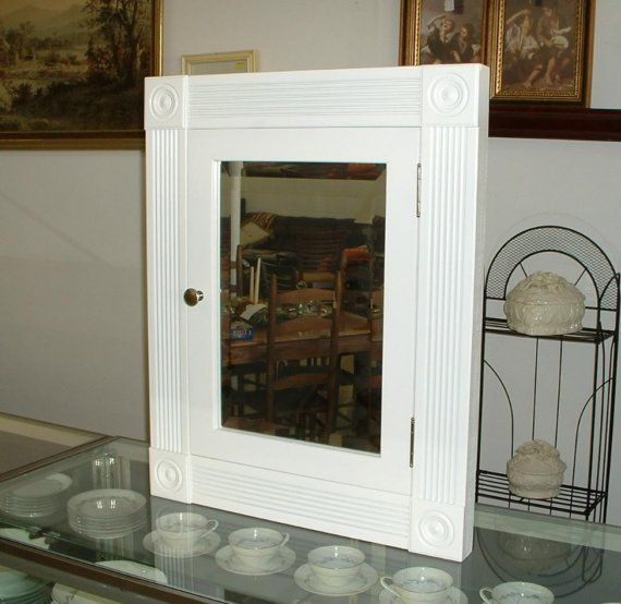 Medicine Cabinet In Wall Victorian Style Beveled Mirror Overall Dimensions Are 23 Wide And 29 Tall 12 X 18 350