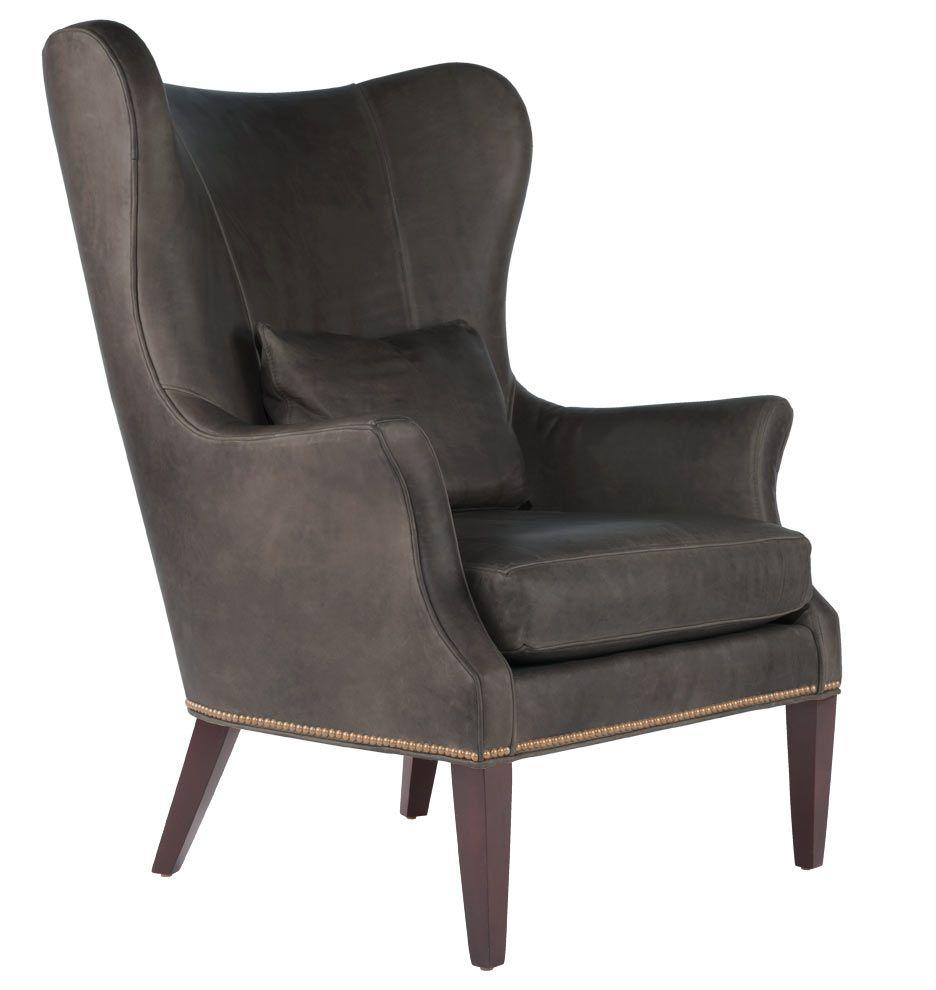 Danish modern wingback chair - Clinton Modern Wingback Chair