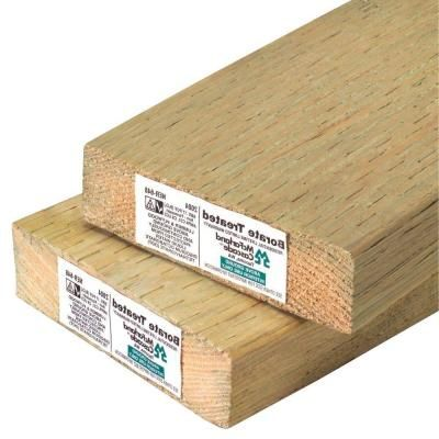 2 In X 4 In X 16 Ft Pressure Treated Lumber Lumber Home Depot Parts Of Stairs