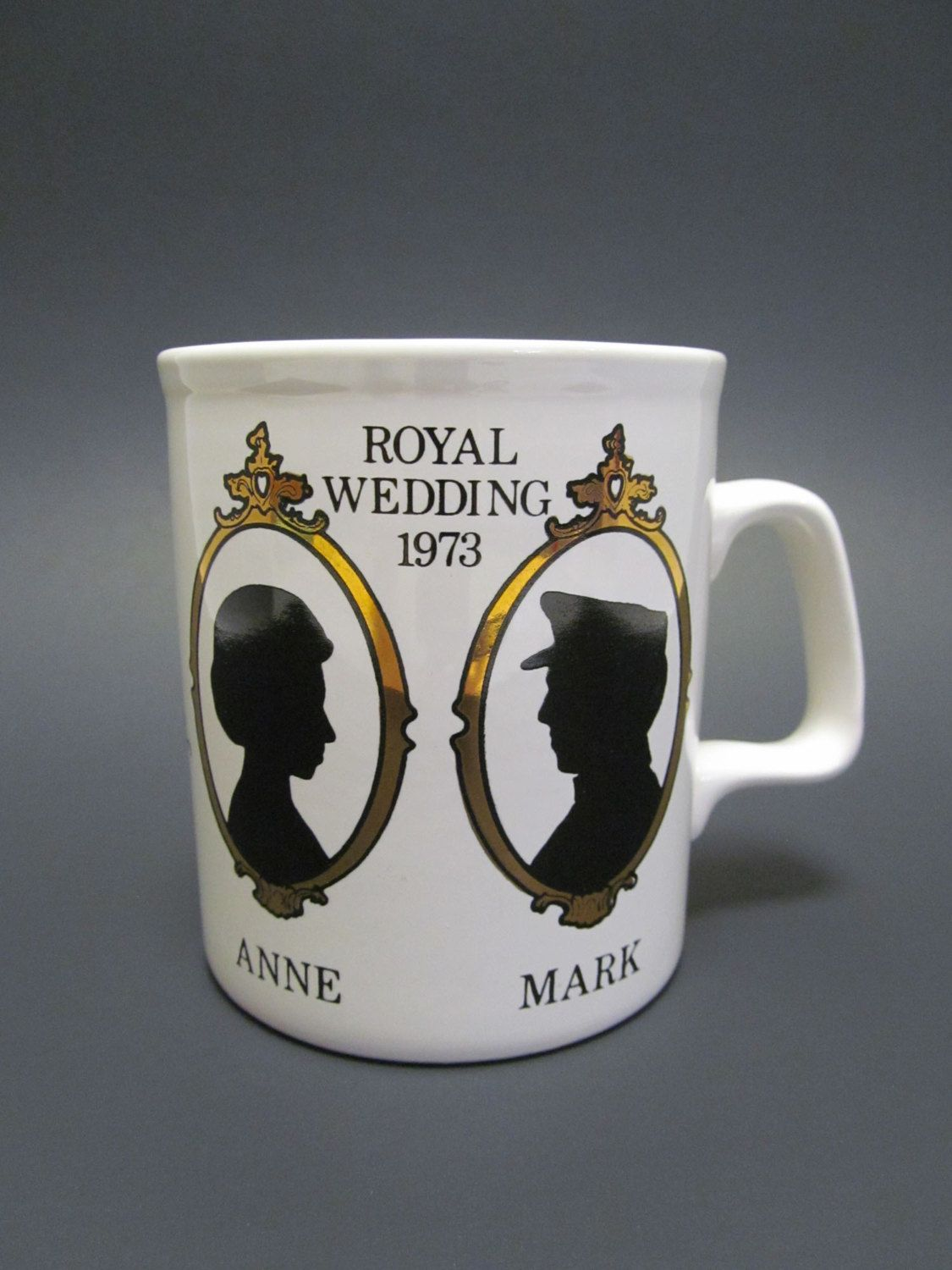 Vintage Princess Anne Royal Wedding Commemorative Mug   1973 Princess Anne  and Mark Phillips Wedding Souvenir Cup   British Royalty Momento by ... 36ca5d1c0