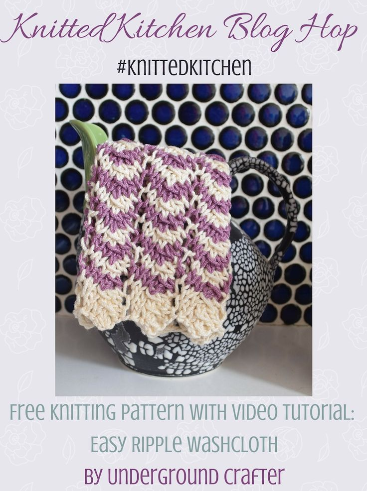 Knitting Pattern With Video Easy Ripple Washcloth Pinterest