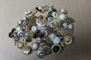 When I opened up my package of Antique Button Mix I knew right away that I had to make some earrings in a FLASH!