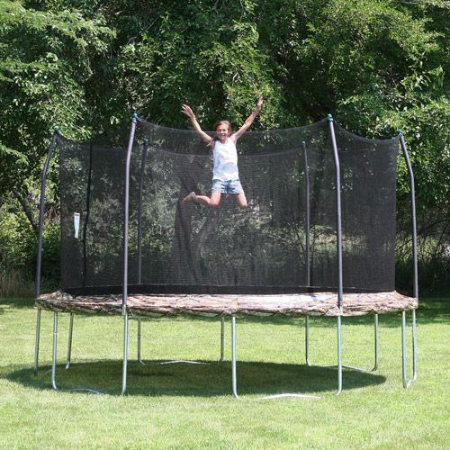 Skywalker Trampolines 12' Round Trampoline and Safety Enclosure, Camouflage with Optional Accessories Bundle