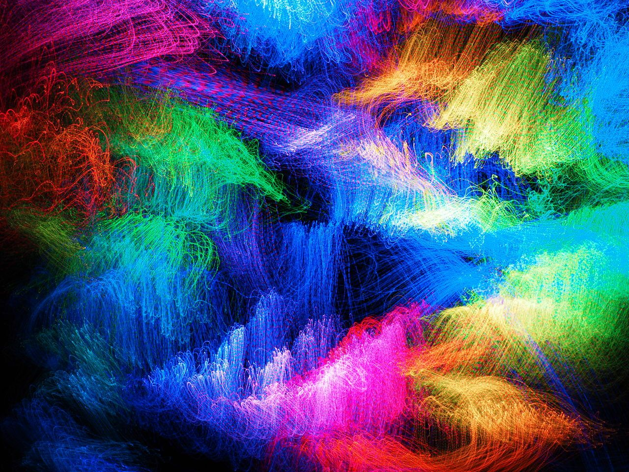 multi colored, abstract, green color, exploding, vibrant ...