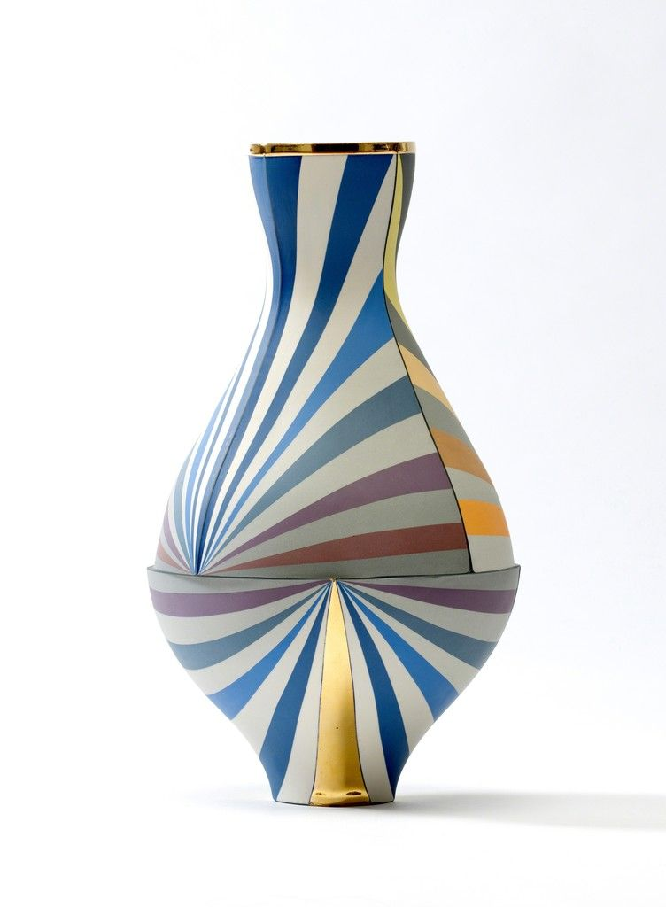 blue decorative vases.htm peter pincus vase in inverse color and value gradients  2016  peter pincus vase in inverse color