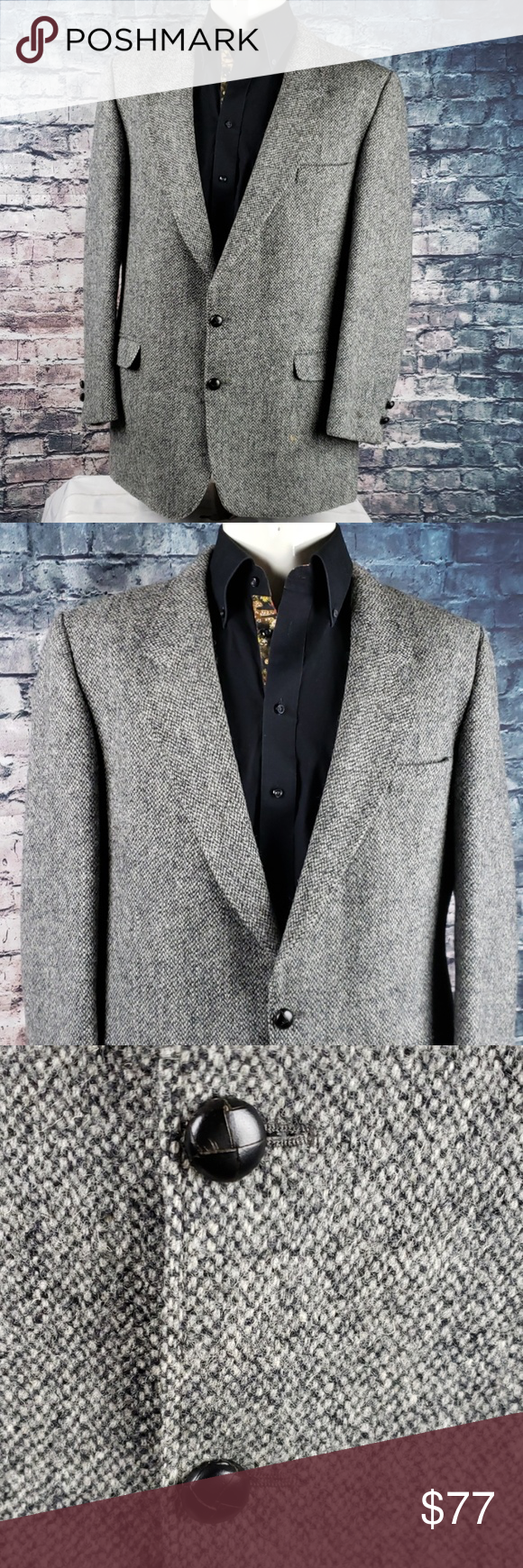 Austin Reed Harris Tweed Blazer 40s Made In Britain This Vintage Jacket Hearkens Back To A Time Of Pipes Funny Hats And I Tweed Blazer Vintage Jacket Blazer