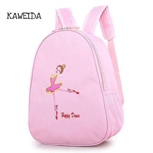 ac1ec9073 Pink Backpack Kids Dance Toddler Shoe bag Embroidered Backpack ...