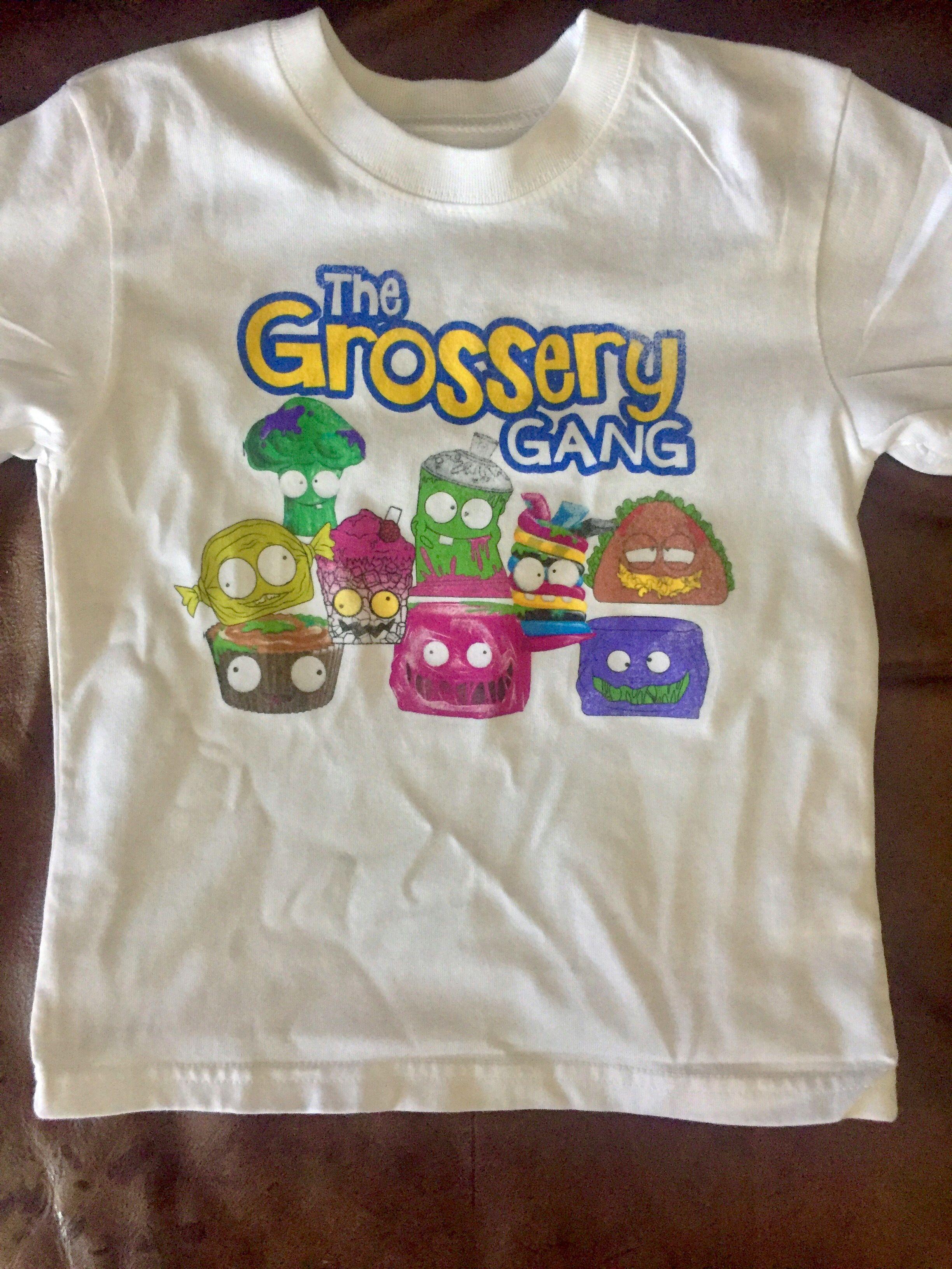 6d1ec6e83c6c DIY Grossery Gang Shirt | kids party | Crafts, Mens tops, Shirts