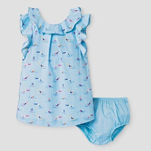 Baby Girls' A Line Dress Genuine Kids® from OshKosh® -  Heirloom Blue : Target