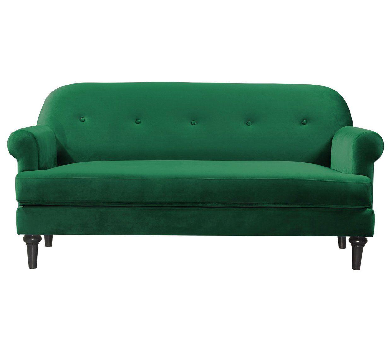 Buy Argos Home Whitney 3 Seater Velvet Sofa Blue Sofas Argos Green Sofa Velvet Sofa Sofa