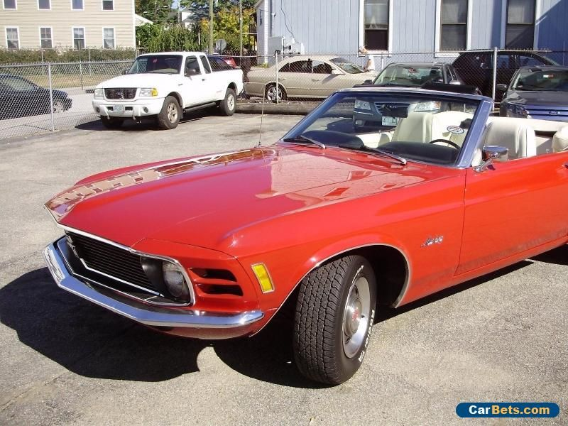 1970 Ford Mustang Base Convertible 2Door ford mustang