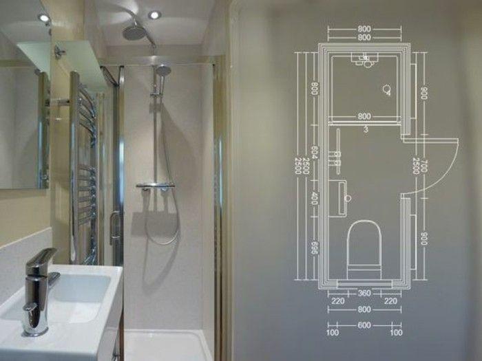 Comment aménager une salle de bain 4m2? Pinterest Small toilet