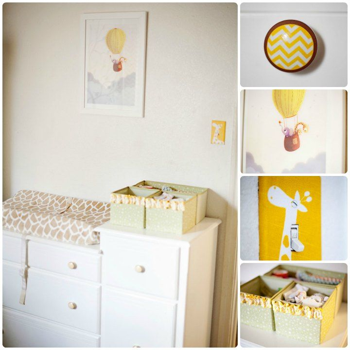 Gender Neutral Giraffe Themed Nursery Changing Table
