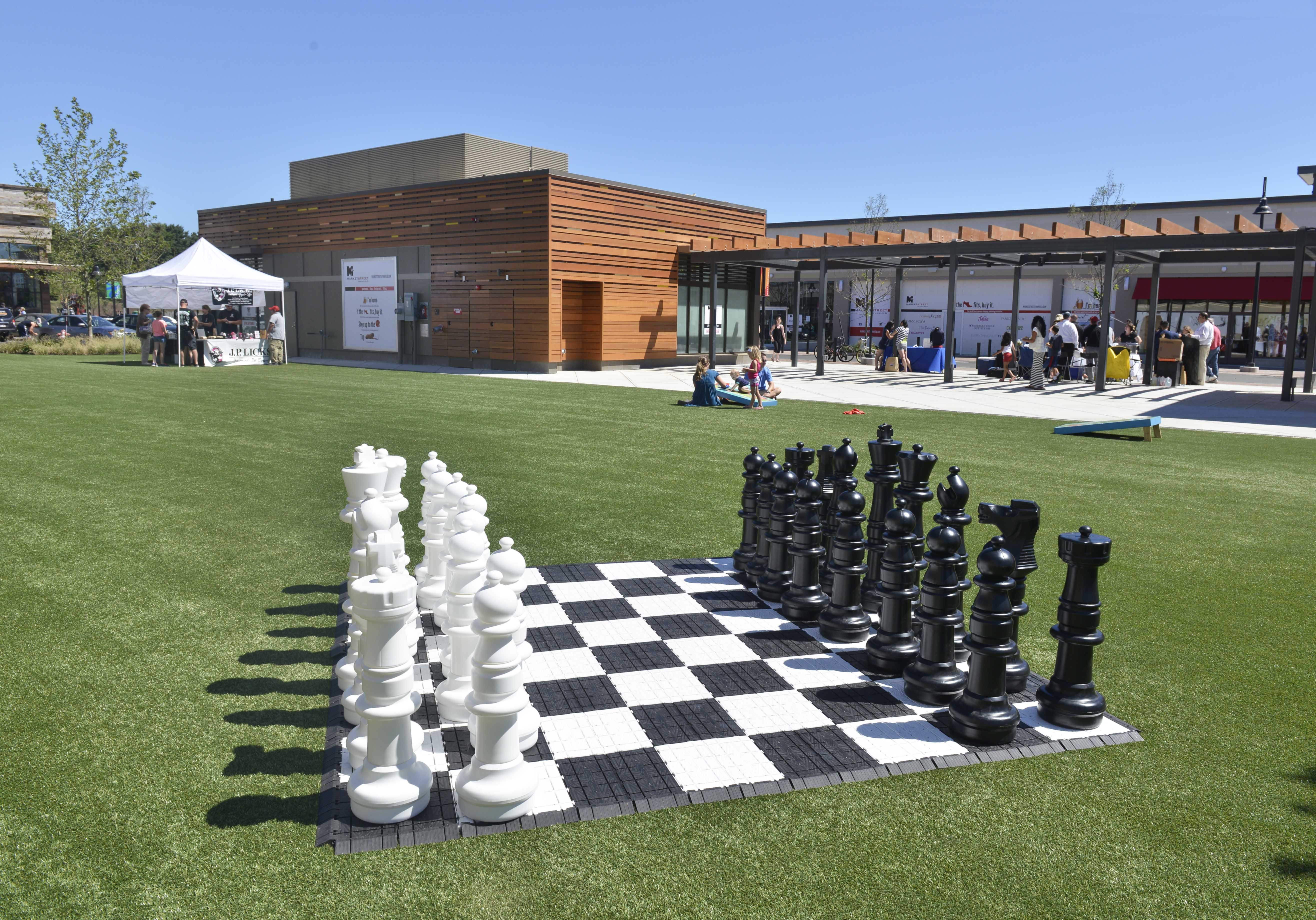 Our new outdoor chess board at MarketStreet in Lynnfield MA