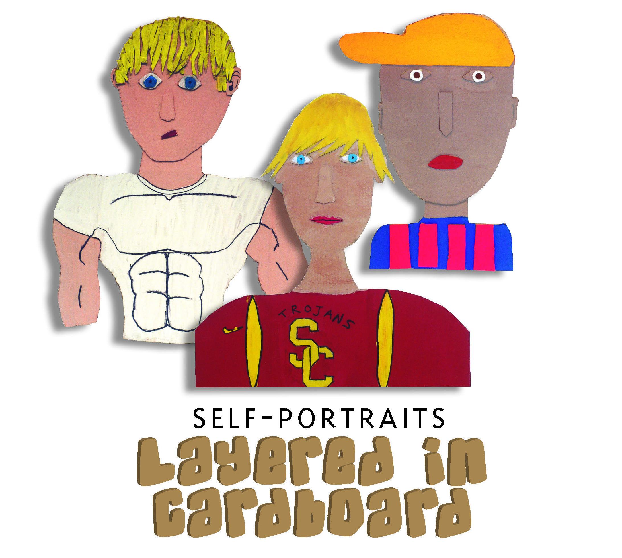 Middle Schoolers Create Layered Cardboard Self Portraits