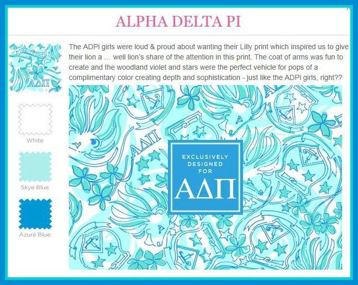 d7db5fe08d4da7 Lilly Pulitzer Alpha Delta Pi | Lilly goes Greek | Sorority crafts ...