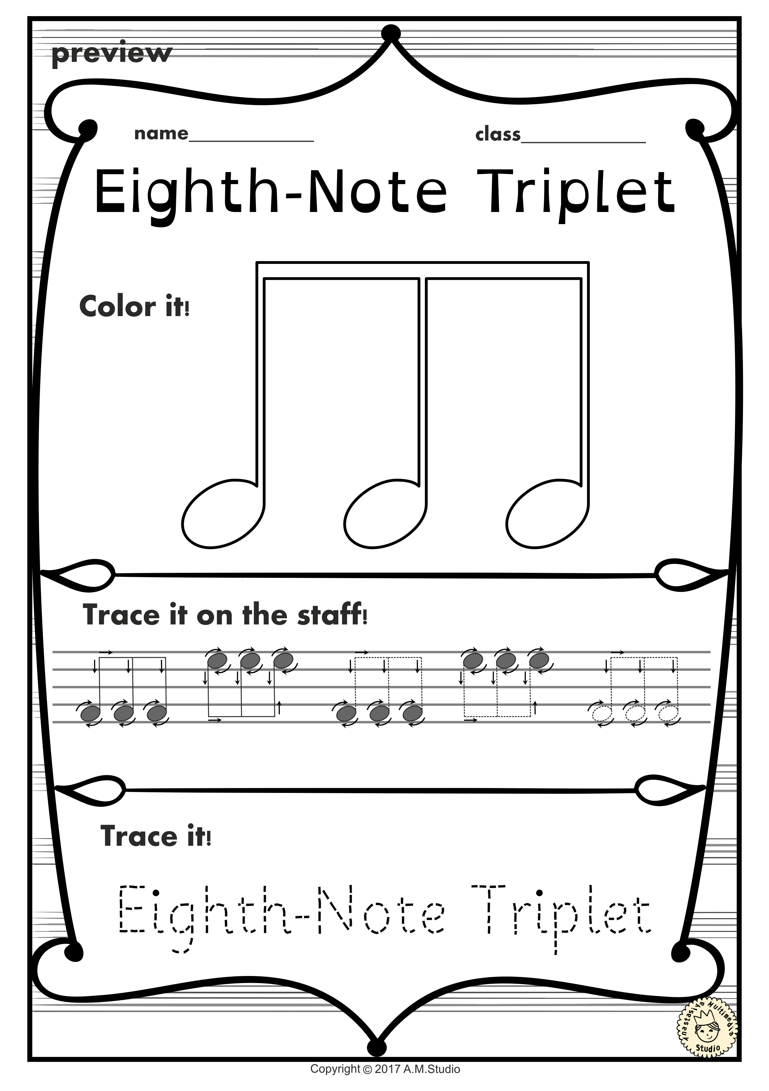 Music trace and color sheets music worksheets music symbols and a set of 19 music worksheets is created to help your students learn music symbols buycottarizona Image collections