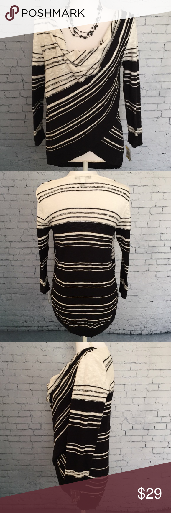 inc international concepts cowl neck sweater   brand  inc international concepts   size  medium