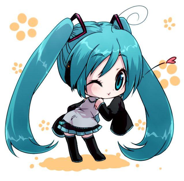 vocaloid anime miku Hatsune Miku Chibi