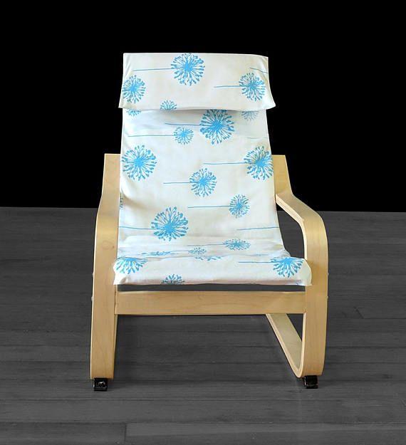 Blue Dandelion Ikea Childrens Poang Cushion Slipcover Ready