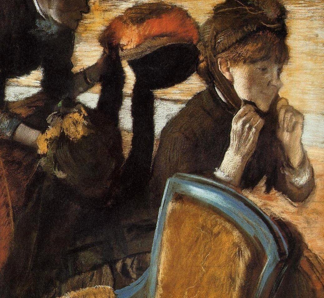 Edgar degas 18341917 at the milliners エドガードガ ドガ 絵画