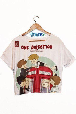 One Direction Crop Top  #freshtops
