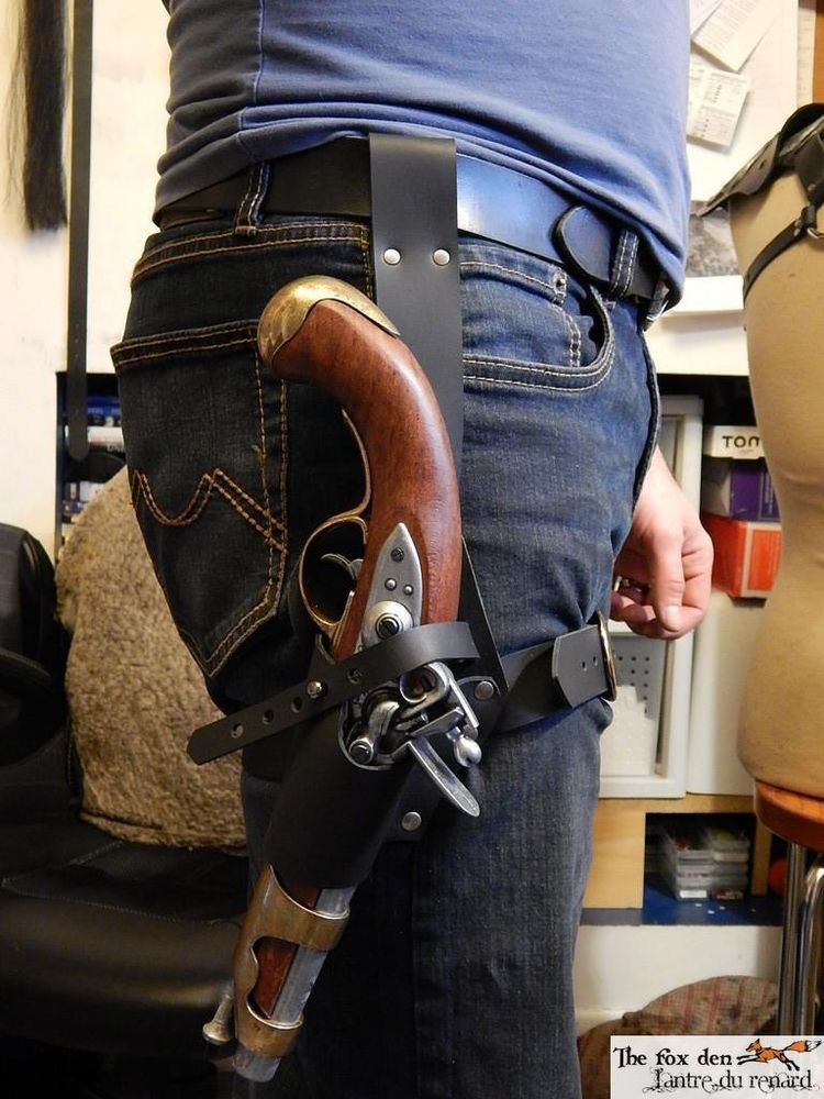 Details About Pirate Universal Leather Leg Holster For