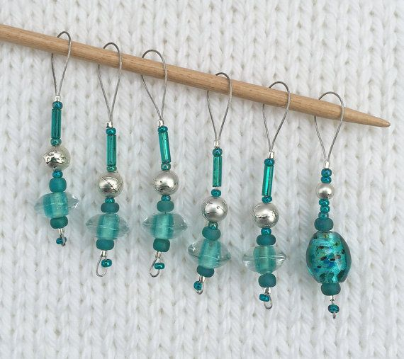 Knitting Stitch Markers - Snag Free Stitch Markers - Beaded Stitch