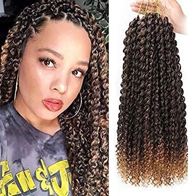 6 Packs Passion Twist Hair 18 Inch Water Wave Synthetic Braids for Passion Twist Crochet Braiding Hair Goddess Locs Long Bohemian Locs Hair