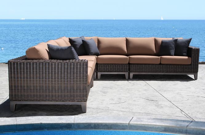 Outdoor Wicker Patio Furniture Columbia Outdoor Sectional With A