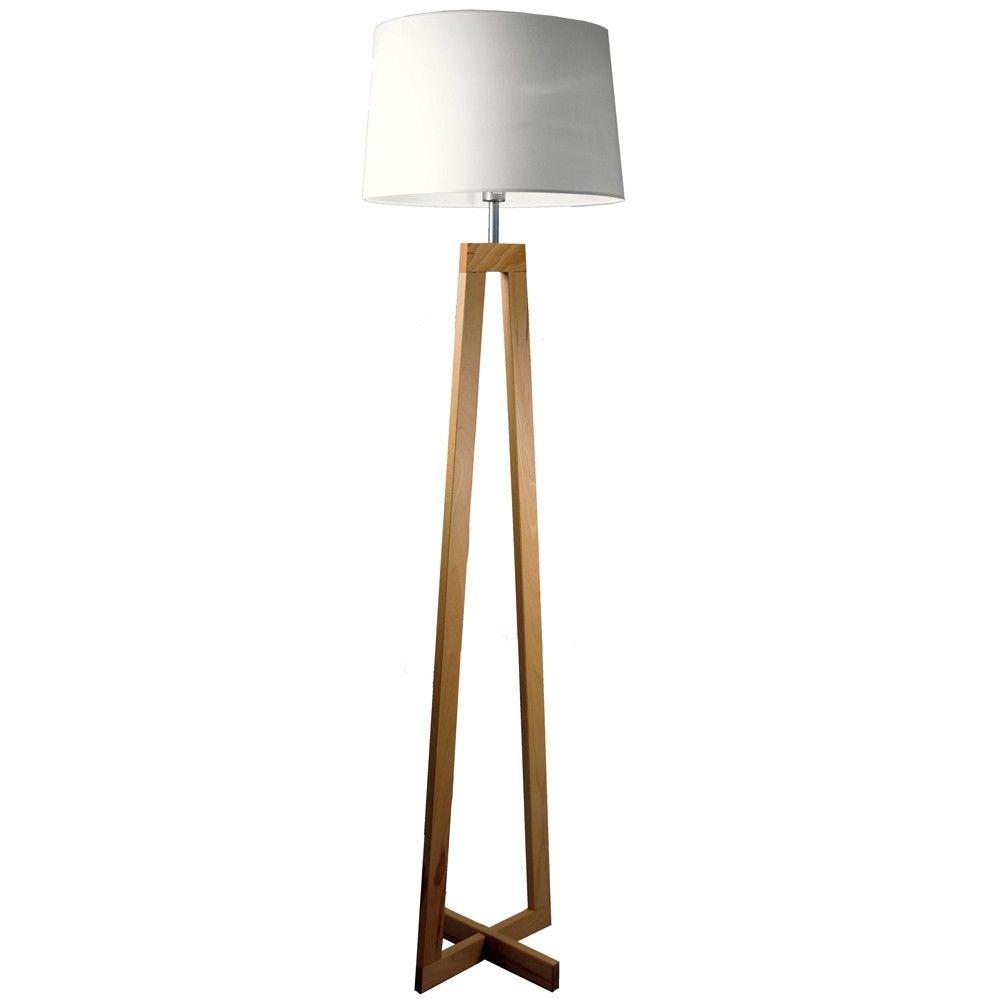 lampadaire bois sacha blanc d co int rieur pinterest lampadaire bois lampadaires et bois. Black Bedroom Furniture Sets. Home Design Ideas